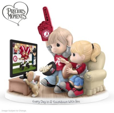 Precious Moments Alabama Crimson Tide Fan Porcelain Figurine by