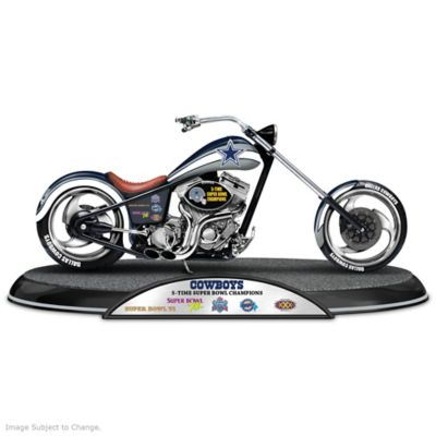 Dallas Cowboys Super Bowl Champions Chopper Sculpture by