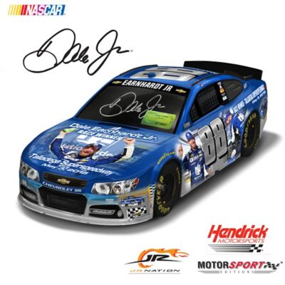 1:18-Scale Dale Jr. Hand-Autographed Talladega Car Sculpture by
