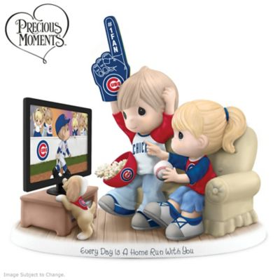 Precious Moments Chicago Cubs Fan Porcelain Figurine by