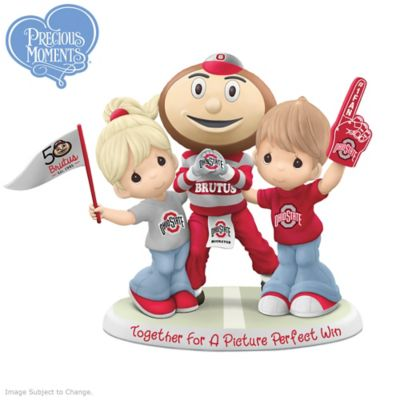 Precious Moments Buckeyes Figurine Honors 50 Years Of Brutus by