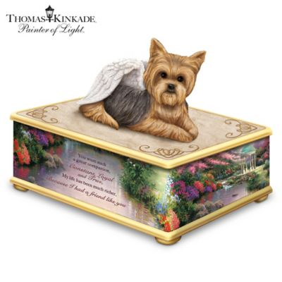 Thomas Kinkade Yorkie Memorial Keepsake Box by