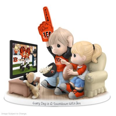 Precious Moments Cincinnati Bengals Fan Porcelain Figurine by