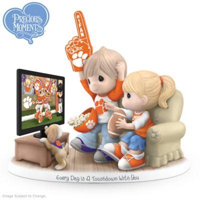 Precious Moments Clemson Tigers Fan Porcelain Figurine by