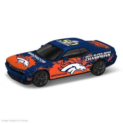 Denver Broncos Super Bowl 50 Car Sculpture in 1:18 Scale by