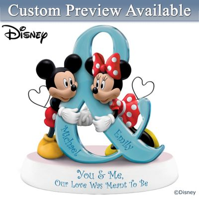 Disney Mickey Mouse And Minnie Mouse Personalized Figurine by