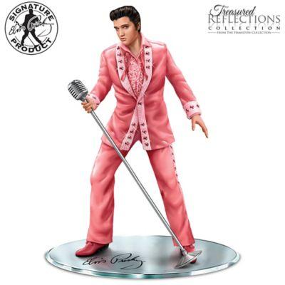 Elvis Presley Breast Cancer Awareness Figurine by