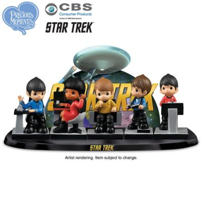 Precious Moments STAR TREK Figurine Set With Display by