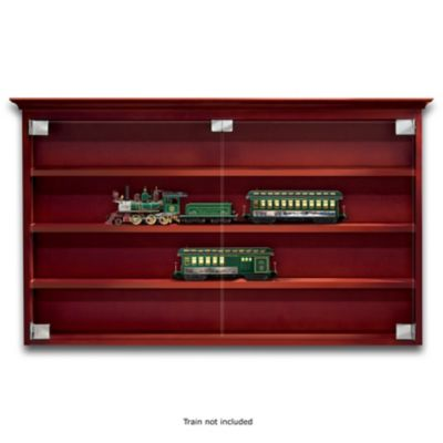 Wooden Display Cabinet For Train Collection by