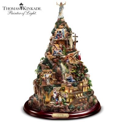 Thomas Kinkade Christian Tabletop Home Decor Faith Mountain