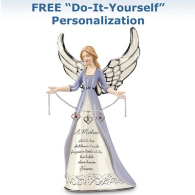 Porcelain Birthstone Angel Figurine For Mothers by