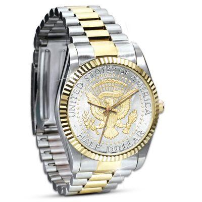 Official JFK Half Dollar Presidential Watch For Men by