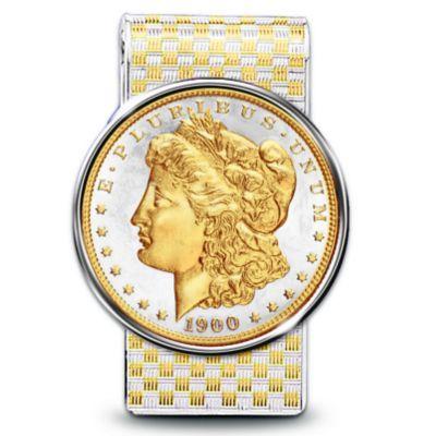 Money Clip With Morgan Silver Dollar by