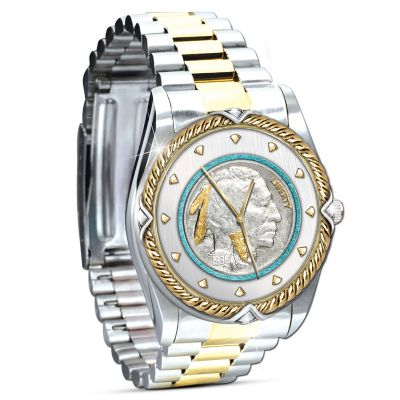 Indian Head Nickel Two-Toned Men's Watch by