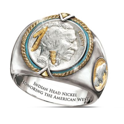 Indian Head Nickel Men's Ring by