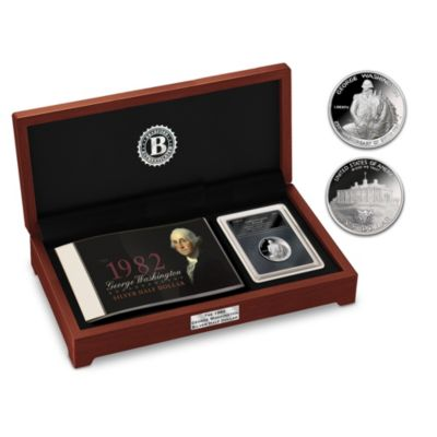 The First Modern Silver Commemorative Coin With Deluxe Case by