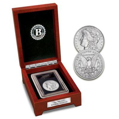 Rare 1900 Double Mint-Mark Morgan Silver Dollar Coin by