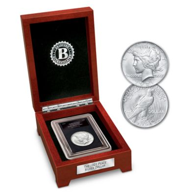 High-Relief 1921 Peace Silver Dollar With Display Box by