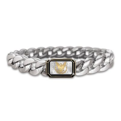 Morgan Silver Dollar Eagle Ingot Men's Bracelet by