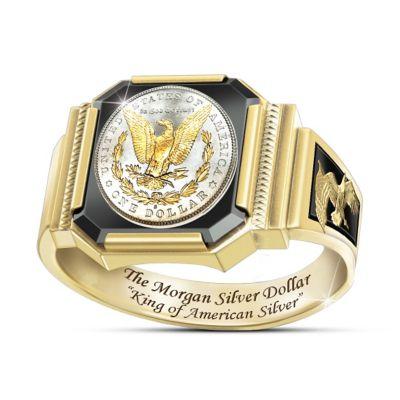 1878 Morgan Silver Dollar-Inspired Men's Ring by