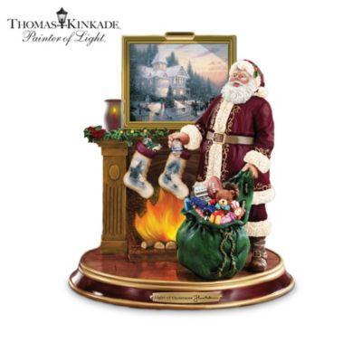 Thomas Kinkade Illuminated Santa Figurine Collection by