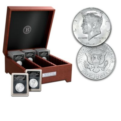 Complete 20th Century US Silver Half Dollar Coin Collection by