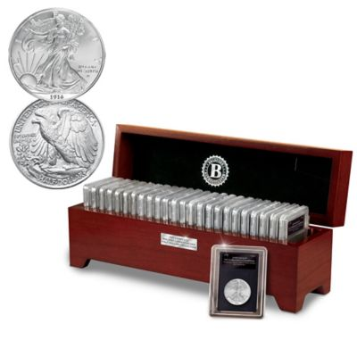 Complete 100 Years Of Walking Liberty Silver Half Dollars by