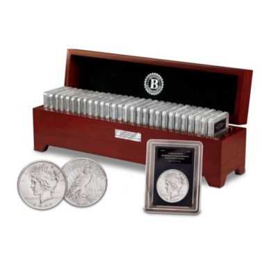 Rare Uncirculated Morgan And Peace Silver Dollar Collection by