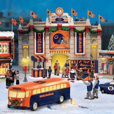 Collectible Chicago Bears Christmas Village Collection