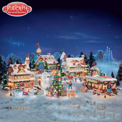 Rudolph The Red Nosed Reindeer Holiday Village Collection by