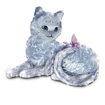 Crystal Cat Figurine Collection by