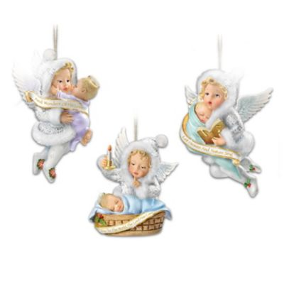 Snow Wonder Angels Ornament Collection: Sets Of 3 by