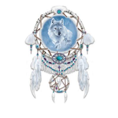 Eddie LePage Wolf Art Leather Dreamcatchers by