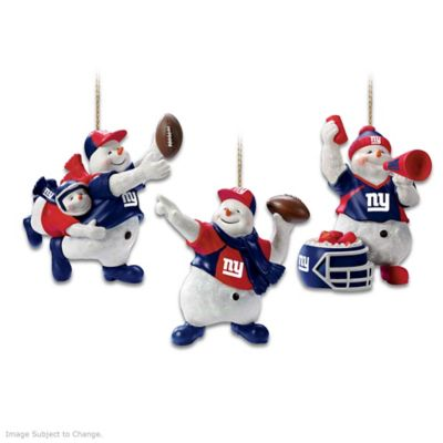 Officially Licensed New York Giants Snowman Ornaments by