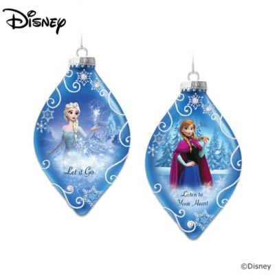 Disney FROZEN Heirloom Glass Ornament Collection by
