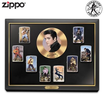 Elvis™ Zippo® Lighter Collection With Display by