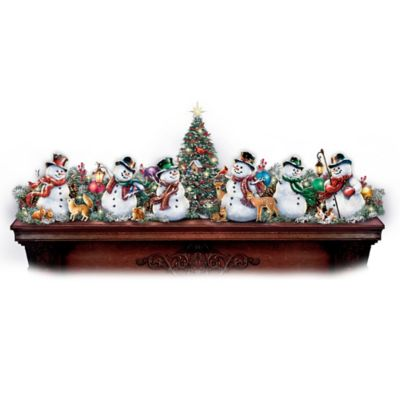 Dona Gelsinger Illuminated Snowman Garland Collection by