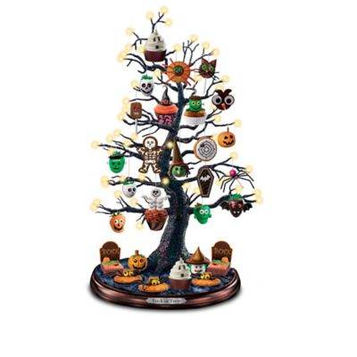 Lighted Halloween Tabletop Tree Collection With Recipe Cards by