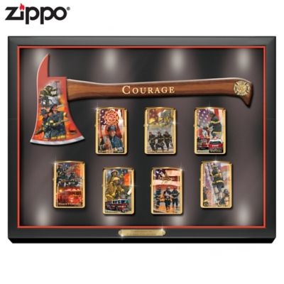 Firefighter Art Zippo® Collection With Lighted Display by