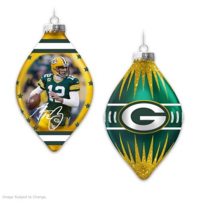 Green Bay Packers Heirloom Glass Ornament Collection by