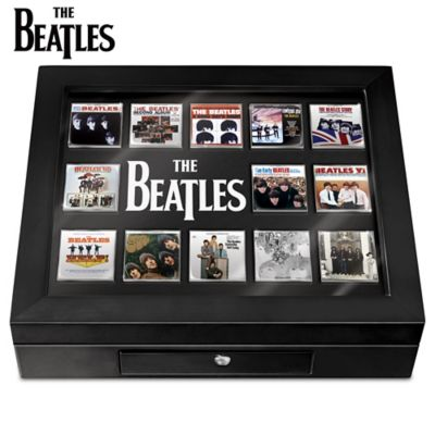 The Beatles Album Cover Enameled Pin Collection With Display by