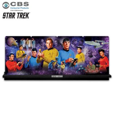 STAR TREK: The Exploration Porcelain Plate Panorama by
