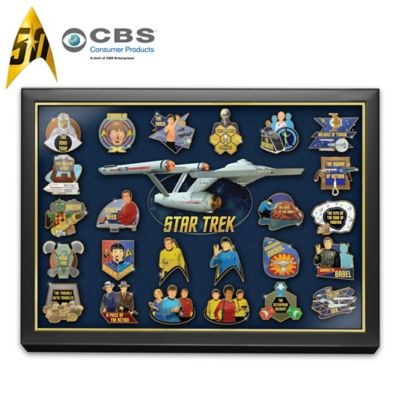 STAR TREK 24K Gold-Plated 50th Anniversary Pin Collection by