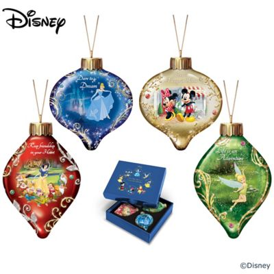 Disney Dazzling Dreams Illuminated Glass Ornament Collection by