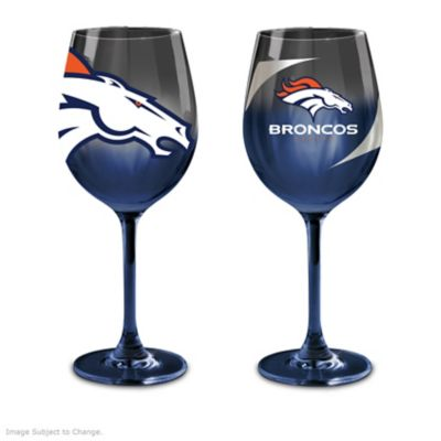 Denver Broncos Wine Glass Collection by