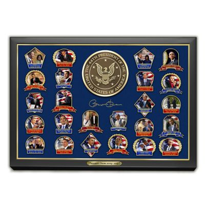 Presidential Legacy Barack Obama Pin Collection With Display by