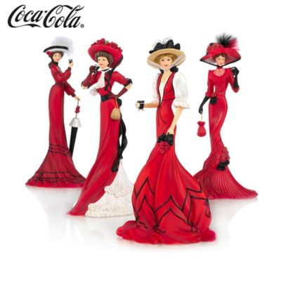 Coca-Cola Advertising-Inspired Elegant Woman Figurines by