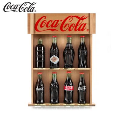 COCA-COLA Bottle Replicas With Collector Cards by