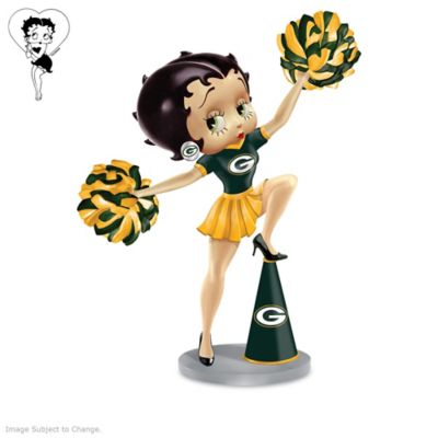 Betty Boop Green Bay Packers Handbell Collection by