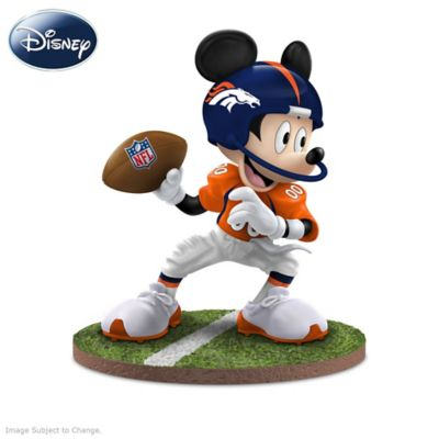 Denver Broncos Disney Mickey Mouse And Friends Figurines by